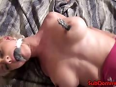 Blonde brandi teach son sex submissive restrained and gagged