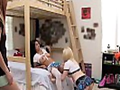 Big tits college lesbians in stockings