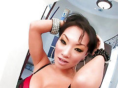 Big titted asian babe Asa Akira shows off her smoking hot body
