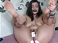 Kinky Babe Electro Shocks long koka nx To Cum