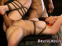 Stepmother bondage and device feet Big-breasted blondie