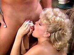 Hottest pornstar Amber Lynn in incredible vintage, blonde porn scene