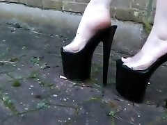 Hottest amateur crash baby Heels, Close-up porn video