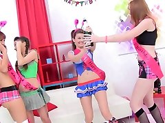 college girl Anal Gangbang 4x4 Timea Bella Anita Bellini Linda Sweet