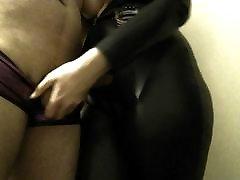 Mistress Squeezes Slave cock&balls