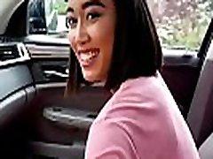 Cute Asian Aria Skye Fingerbanged In Backseat Of Car