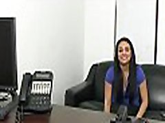 Pussy and arse fuck at a casting