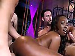 Ebony whore gangbanged