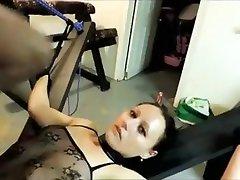 Fabulous homemade BDSM, Brunette xxx video