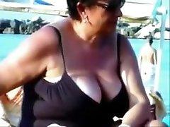 Amazing Amateur movie with Beach, Voyeur scenes