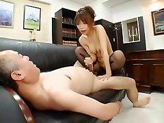 Exotic Japanese chick Hikari Hino in Amazing Secretary, Changing Room JAV clip