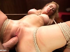 Cherie Deville & Maestro in Gorgeous Big Tit Blonde Gets Fucked Hard In Tight Bondage - HogTied