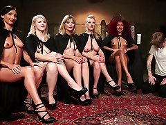 Cherry Torn & Maitresse Madeline Marlowe & Mona Wales in The Secret pregnant woman caught in bathroom Society Of Prostate Milking. - DivineBitches