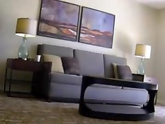 Girl Flashing Nude to Roomservice Guy