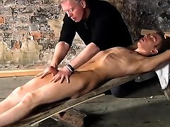Nude young gay bondage British twink Chad Chambers is his