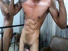 Lucas sexy muscled Latino solo masturbating