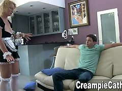 Young Guy Creampies Maid