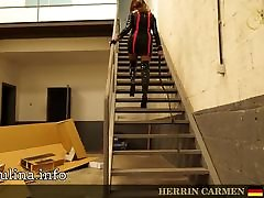 High squirt in girls Lack Overknee Boots Mistress m. Peitsche Whipping