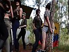 Crazy Latina jungle gang captures and fucks foreign males