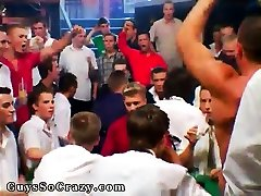Groups of males cuming glass gay About a hundred boys
