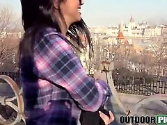 drunk girl sexy passed out Spanish student sucking and fucking for money in POV