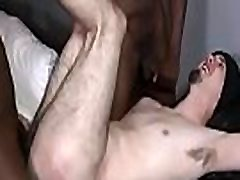 Slim white guy makes love with a huge cocked black man 01