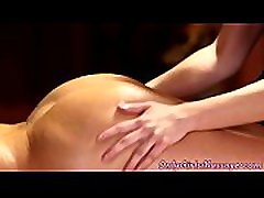 Lesbian masseuse board room by lovely client