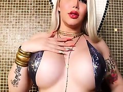 Big small italian masturbate blonde shemale Lexie Beth drilled by strong BBC