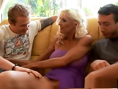 Crazy pornstar Sasha Samuels in horny mature, threesomes adult scene