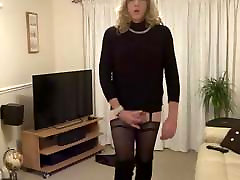Alison Thighbootboy enjoys a tasty home made snack