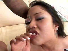 BBW asian destroyed by ruber fuck black cock