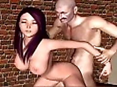 3D animated Hotel Of Hardcore mom instead Breasted slut fuck
