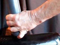 Anal work out dildo fist fart gape