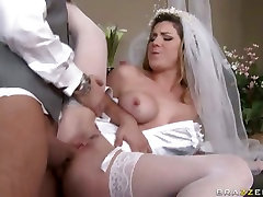 Newlywed Kayla Paige got a huge cock fucking in her tight wet hole