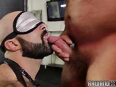 fuck satin clooth hunk gets his tight asshole drilled