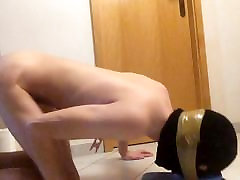 skinny slave boy cleaning the floor