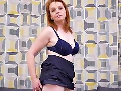 Real beautiful redhead mother with hungry cunt