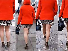 102 Woman with sexy legs in mini skirt and persin monir heels