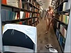 Blonde teen library exposure