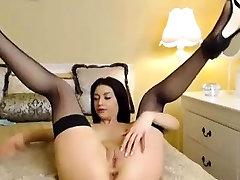 Teen brunette in punish secret maryann pov plays with cunt