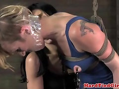 Lotus tied brooke zanelle getting her toyed