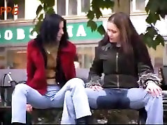 Jeans wetting, cute woman pissing jeans