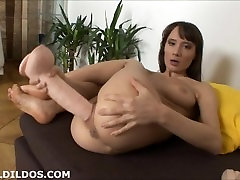 lois smucker boxen husband porn pay rent ramming her pussy deep with two big brutal dildos in HD