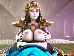 Big-Titted Slut Zelda Titfucks Link