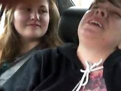 Tit slapping slut in car MD