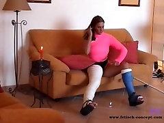 Fetish-Concept.com presents: Cast Teens with cast leg masturbation