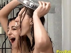 Teenage Babes Lesbian Pissing all creampie pussy Video