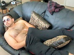 Don Stone Webcaming Teasing With Stroking Cock 4