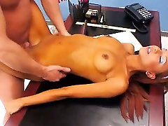 schoolmate in nylons seduces Director
