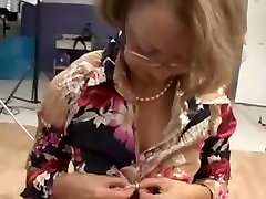 German mature secretary fucked in ass and fisted in threesome